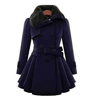 aiiaBestProducts - Winter Coat Women Wool & Blends Coats Female Jacket Winter Woman Coat Warm Windbreaker