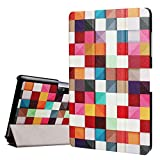 Acer Iconia One 10 B3-A30 DETUOSI ® Cover,Acer Iconia One 10 B3 Case,[Magnetic Closure][Slim Fit] Folding Case Cover for Acer Iconia One 10 B3-A30-Colorful Squre