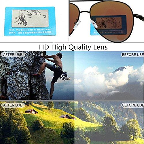 Red 400 par UV Yxsd aviateur Polarisés Hommes Protection Couleur Cadre Lunettes en de Gray Métal de de Soleil xpTp6wAq