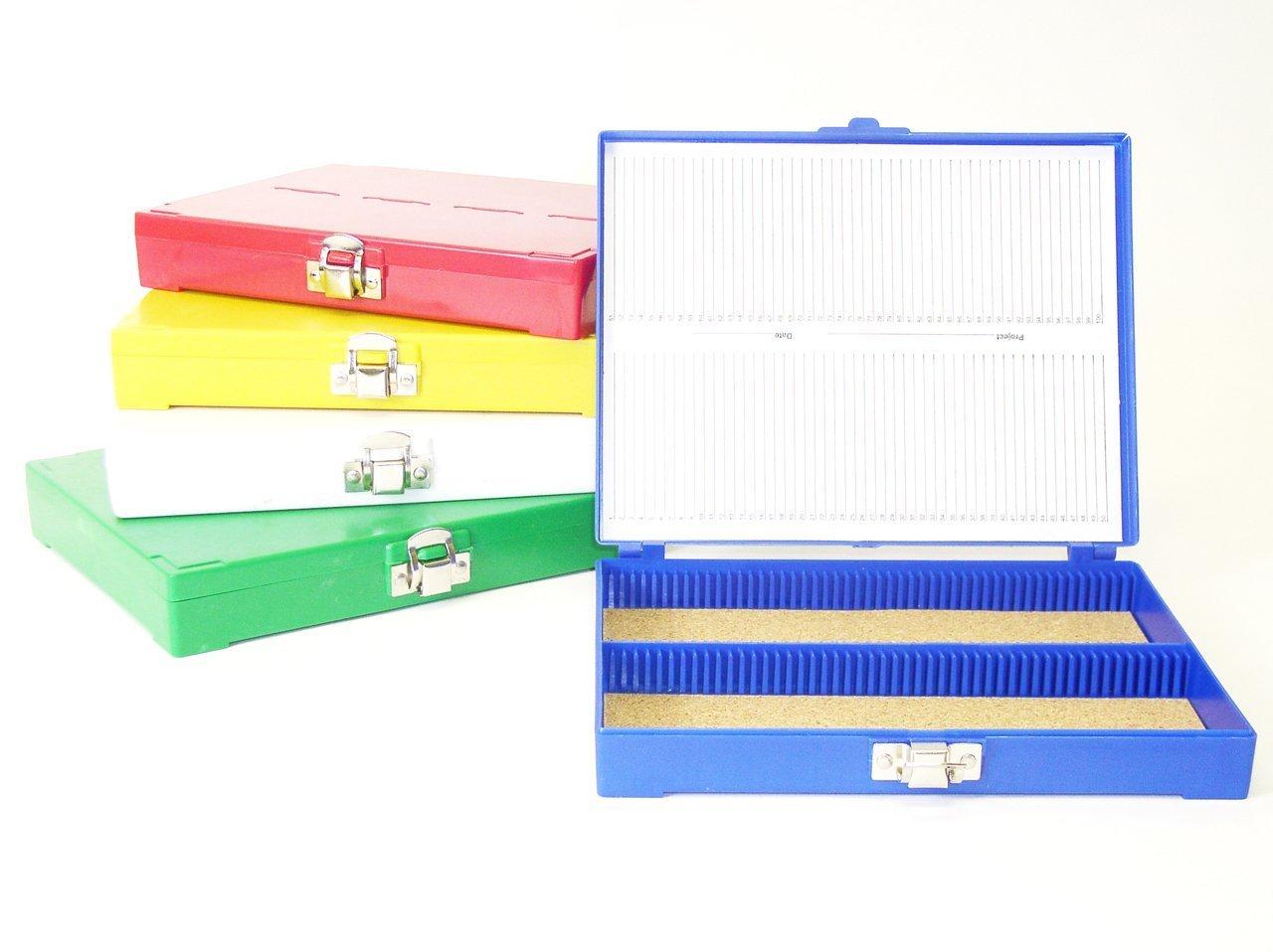 1 each. green 100 Capacity Slide Box
