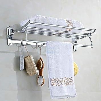 XINSU Home El Estante para Toallas de baño de Acero Inoxidable Cuenta con una estantería empotrada ...