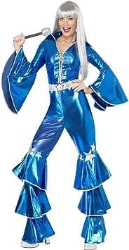 NET TOYS Disfraz para Mujer años 70 Mono Setenta Baile Disco ...