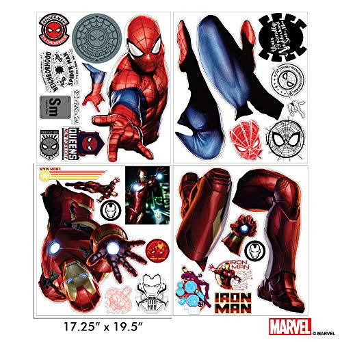 Marvel Spider-Man & Iron Man Bundle Augmented Reality Stickers for Kids Rooms - Kids Wall Decals for Bedroom are Easy to Put Up On Wall & Peel Off - Best Bedroom Décor by Marvel (Image #6)