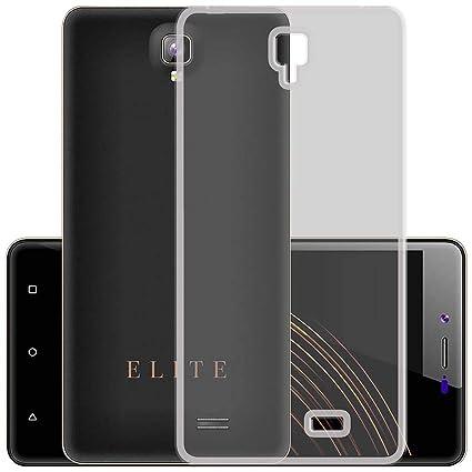 uk availability 74b6e 8a1e1 Casotec Soft TPU Back Case Cover for Swipe Elite Note - Clear