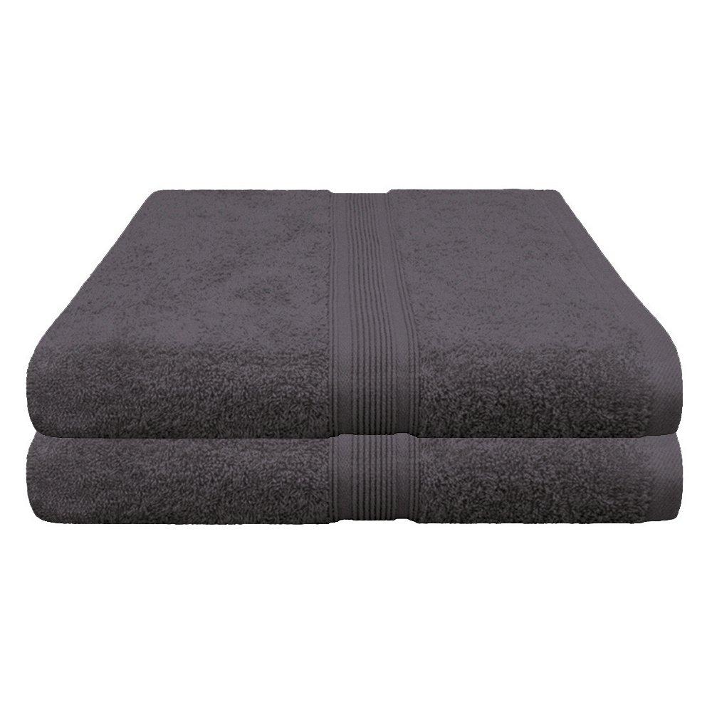 Pack of 2 terry sauna towels, 100 % cotton, XXL, 80 x 200 cm, 500 g/m² , in 19 colours, 100 % Cotton, yellow, Pack of 2 Wasserbetten-Markenshop