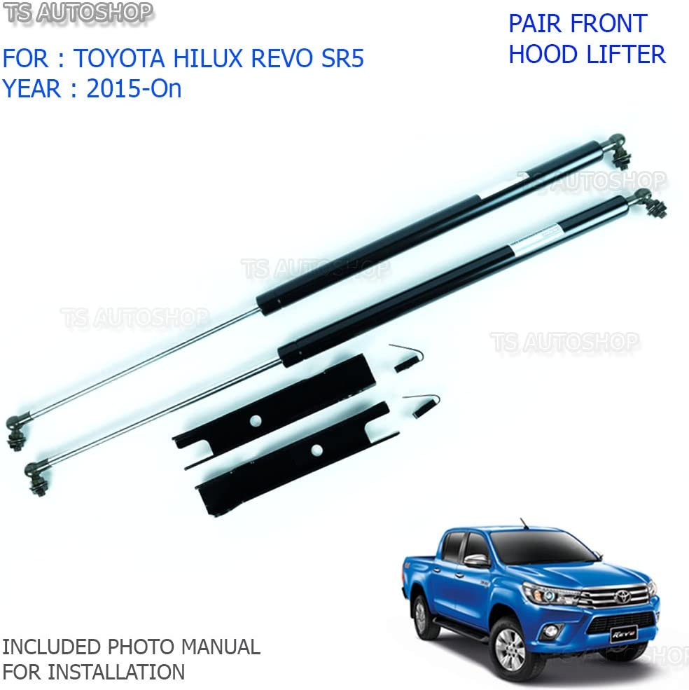 BONNET HOOD LIFT SHOCK UP WITH SPRING SET FOR TOYOTA HILUX REVO 2015 2016 2017