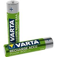 Varta 58398101402 Recharge Accu Phone Accu AAA Micro Ni-Mh Accu, geschikt voor draadloze telefoons, 800mAh 2-Stuks…
