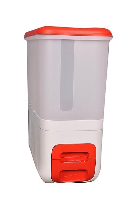 Tupperware Smart Plastic Rice Dispenser Container, 10 Litres, Multicolour