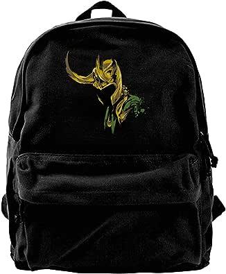 Mochila de lona Loki Lafeyson Art Novedad Mochila de gimnasio senderismo portátil bolsa de hombro para hombres y mujeres