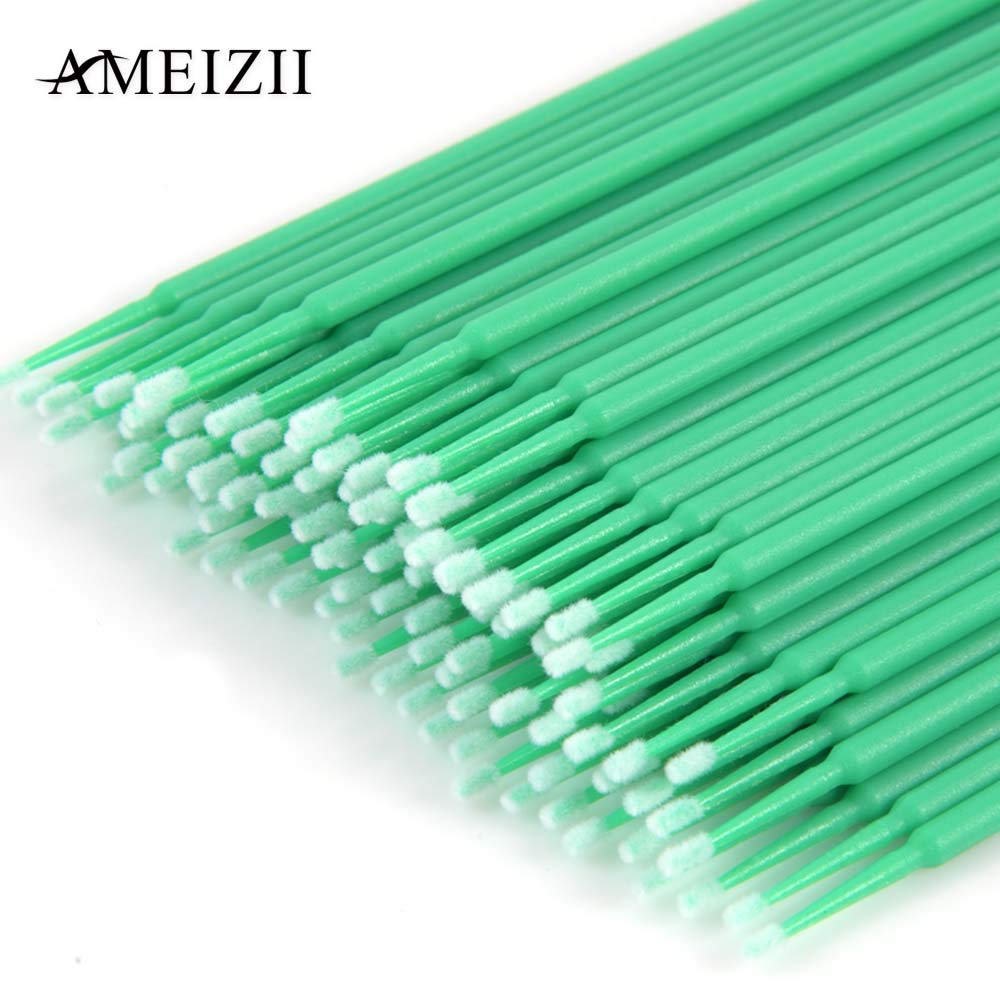 Anself Eyelash Cleaning Stick Cleaning Swab Cotton for Mascara Gel Paste Makeup Remover Ear Cleaner Swabs Disposable 100Pcs