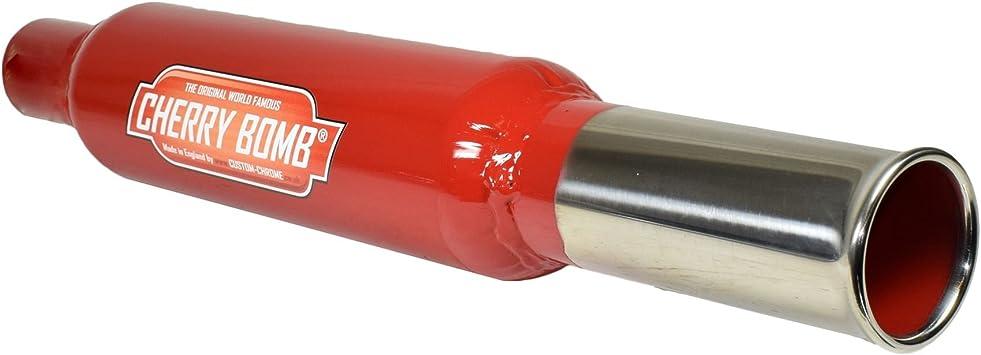 AB Tools Cherry Bomb Bomba de Cola estándar Tubo de Cola Ronda Final Caja Posterior del Tubo de Escape: Amazon.es: Coche y moto