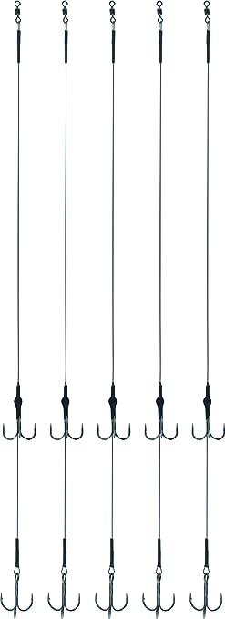 Storfisk fishing /& more Fluoro Carbonvorfach mit 2 Drillingen zweiter Drilling ist H/öhenverstellbar 5 St.