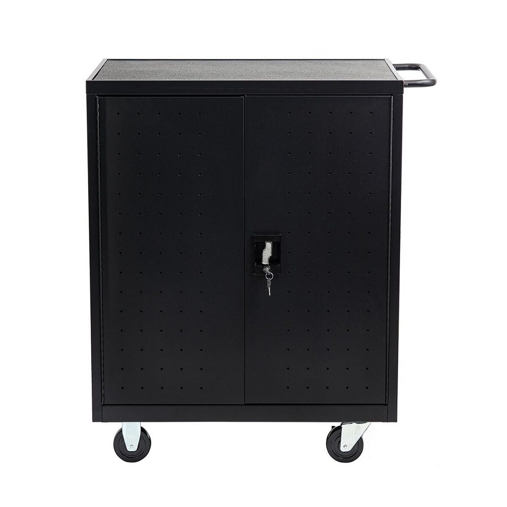 "Pearington 24 Bay Rolling, Charging Cart Station for Classroom and Office- For use with Chromebooks, iPad, Tablets and Laptop Computers; Secure Locking Cabinet Storage-Store up to 15"" Size Electronics"