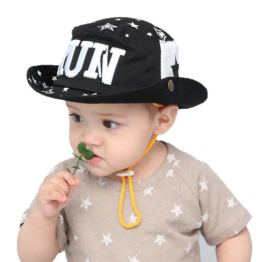 564f3157 Amazon.com: Gongzhumama Baby Boy's Sun Protection Beach Bucket hat UPF 50+:  Baby