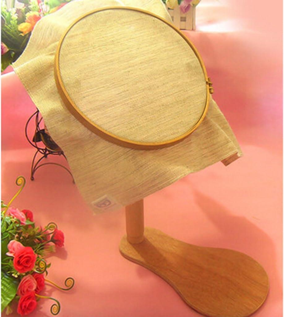 Sharplace Stickrahmen aus Holz verstellbar Kreuzstich-Stickrahmen Kreuzstichhalter rund f/ür den Schreibtisch