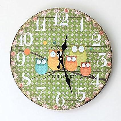 CLG-FLY grandes relojes de pared decorativos diseño moderno salón Vintage Reloj de pared Decoracion