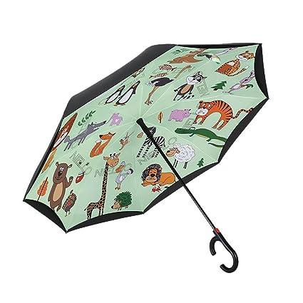 Paraguas plegables Paraguas invertido Paraguas plegable Paraguas automático completo Adulto masculino y femenino Lluvia y lluvia