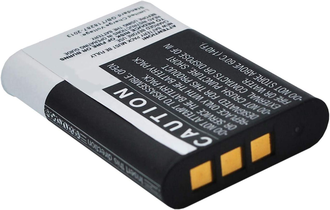 Gris Amsahr BT-SNNPBY1-1CT Num/érique Remplacement Cam/éra//Cam/éscope Batterie pour Sony Npby1//Action Cam Mini Hdr-Az1//Hdr-Az1Vb//Hdr-Az1Vr