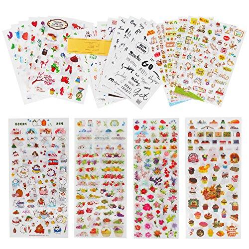 okdeals Planner Stickers Decorative Adhesive Sticker Tape Kids Craft Scrapbooking Sticker Set for Calendars, Arts, Kids DIY Crafts, Album, Bullet Journals