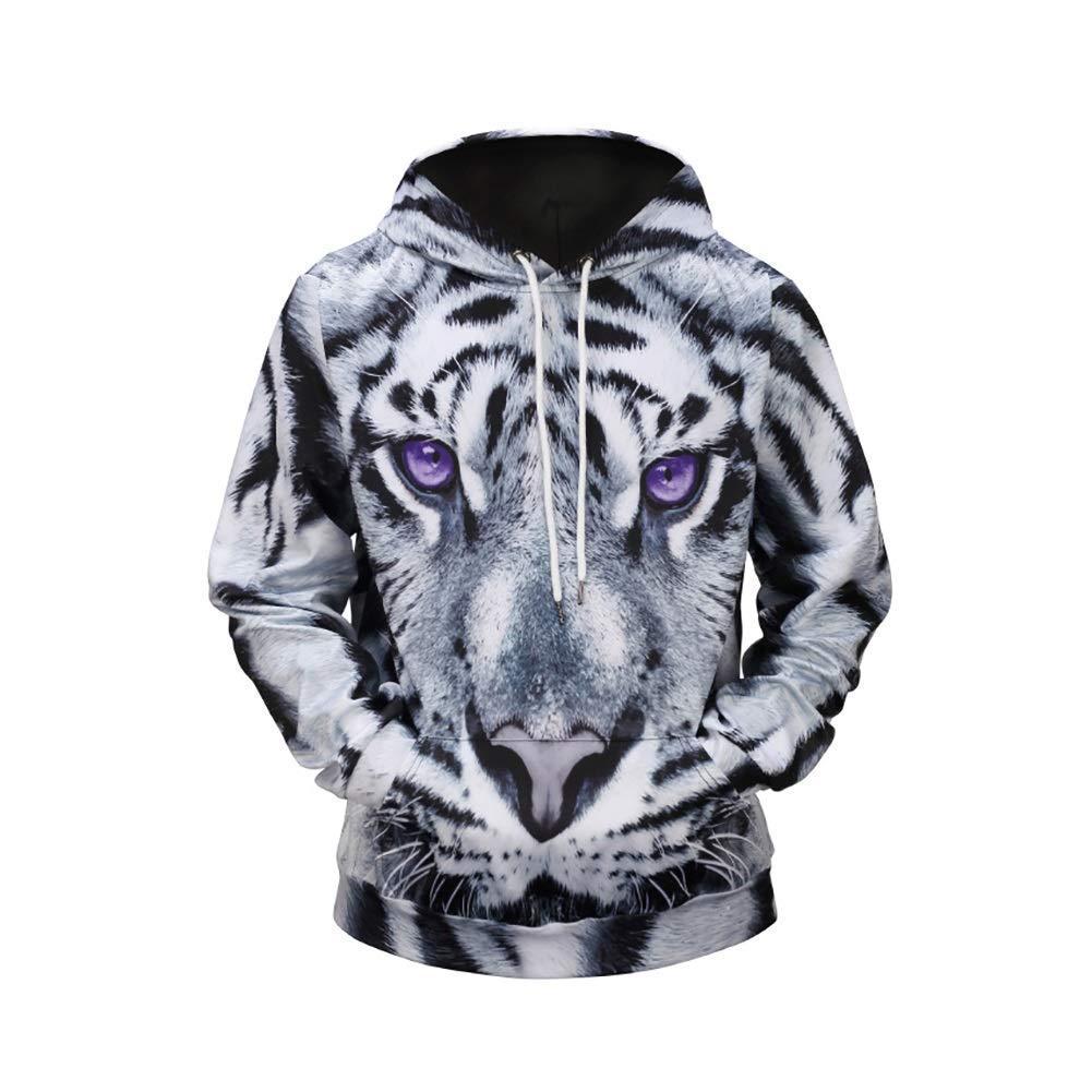 Männer Mighty Weihnachten 3D Animal Prints Pullover Pullover Atmungs Hoodies Gemusterte Sweatshirts Für Herren Mit Taschen (Farbe   Picture Colour, Größe   XL) (Farbe   Picture Farbe, Größe   XL)