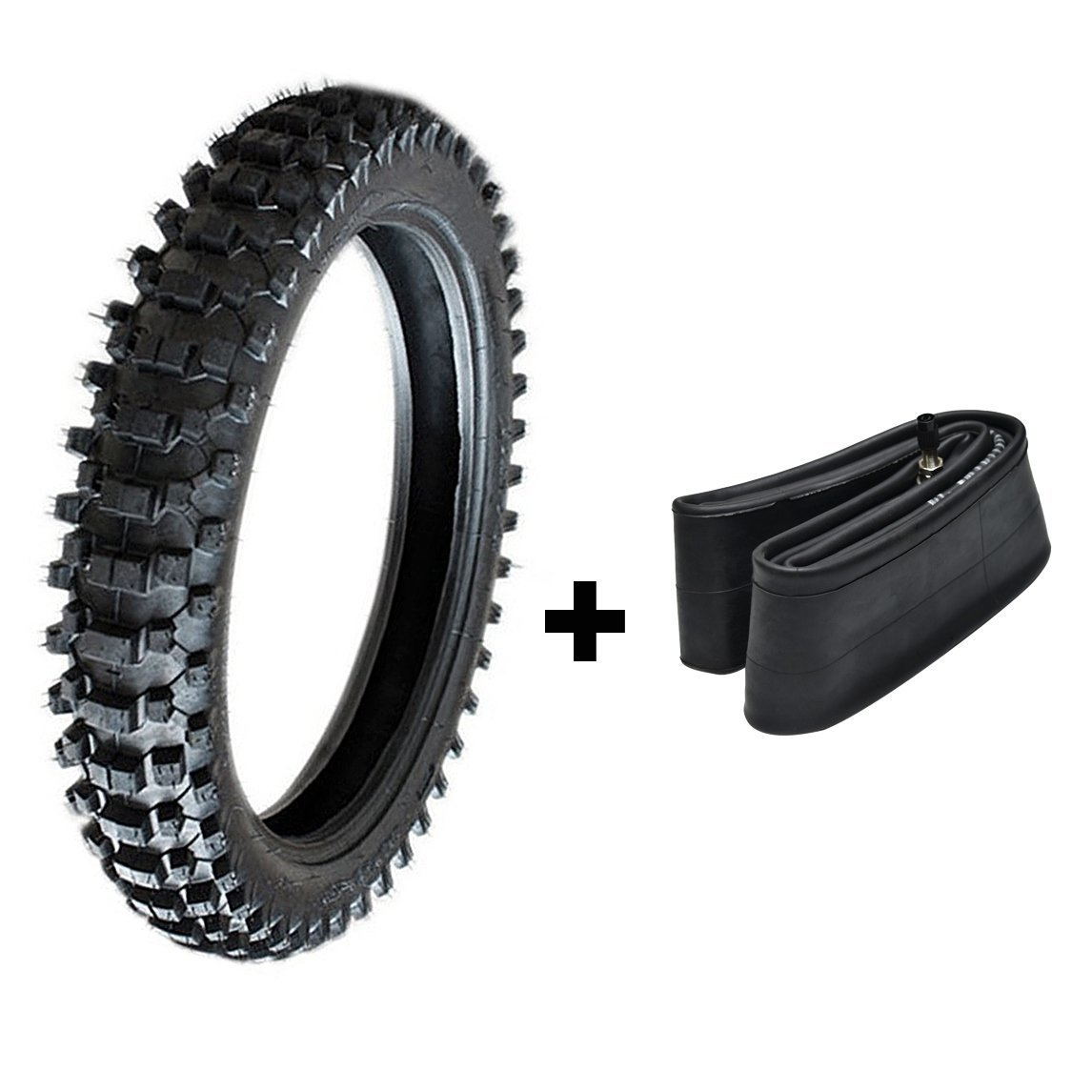 ZXTDR Off Road Tire and Tube 110/90-18 for Dirt Pit Bikes Mud Motocross Tires