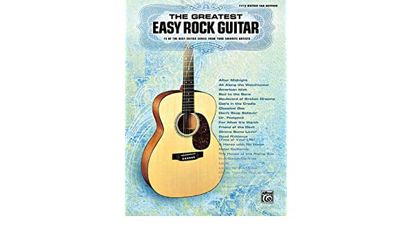 The Greatest Easy Rock Guitar Easy Guitar Tab Editons: Amazon.es ...