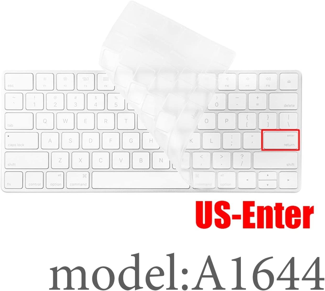 Desktop PC Compatible for Bluetooth Wireless Keyboard MLA22LL/ A1644 A1314 iMac Keyboard Cover Protector Cover US/EU Version,US-key-A1644