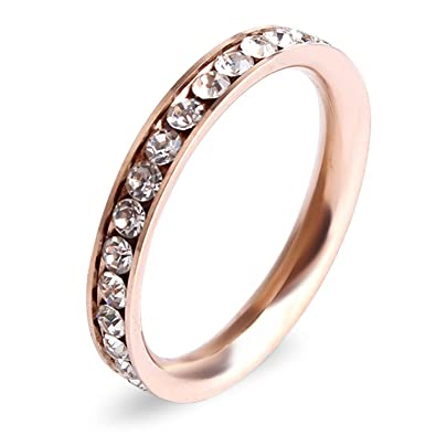 Amazoncom 4mm Tungsten Wedding Bands Will Queen Rose Gold