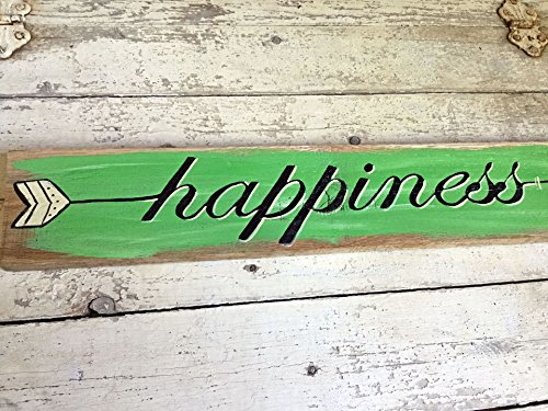 Happiness Pallet Wood Arrow Sign, Rustic Wall Decor