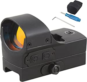 Vector Optics Wraith 1x22x33mm 3 MOA Mini Red Dot Scope Sight with Automatic Motion Sensor and Invisible Night Vision Dot (Matte Black)