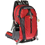 V.VAN 65L Internal Frame Backpack, Water-resistant Hiking Backpack, Trekking Bag for Outdoor Sports Climbing Camping Mountaineering Backpacking with Rain Cover