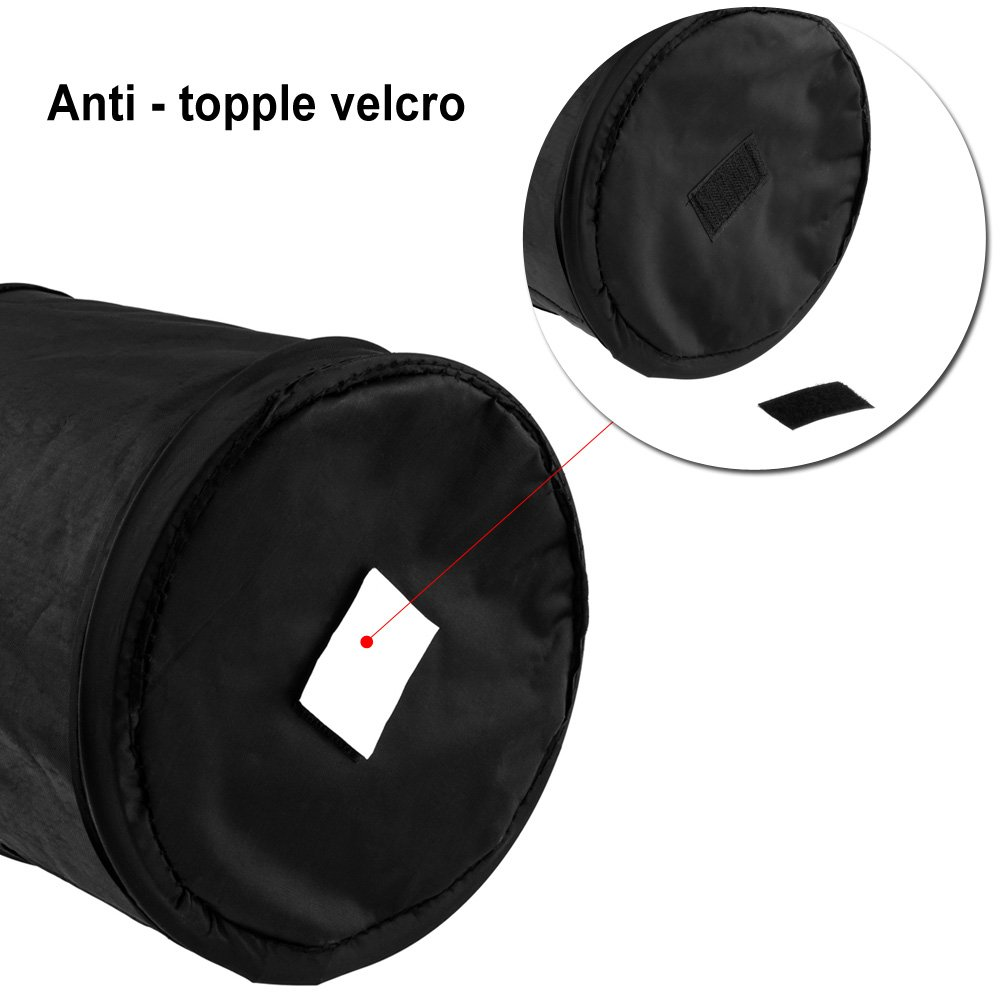 Foldable and Water Resistant Auto Trash Bag Camp for Garbage and Litter Storage and Collection Waymeduo Car Bin