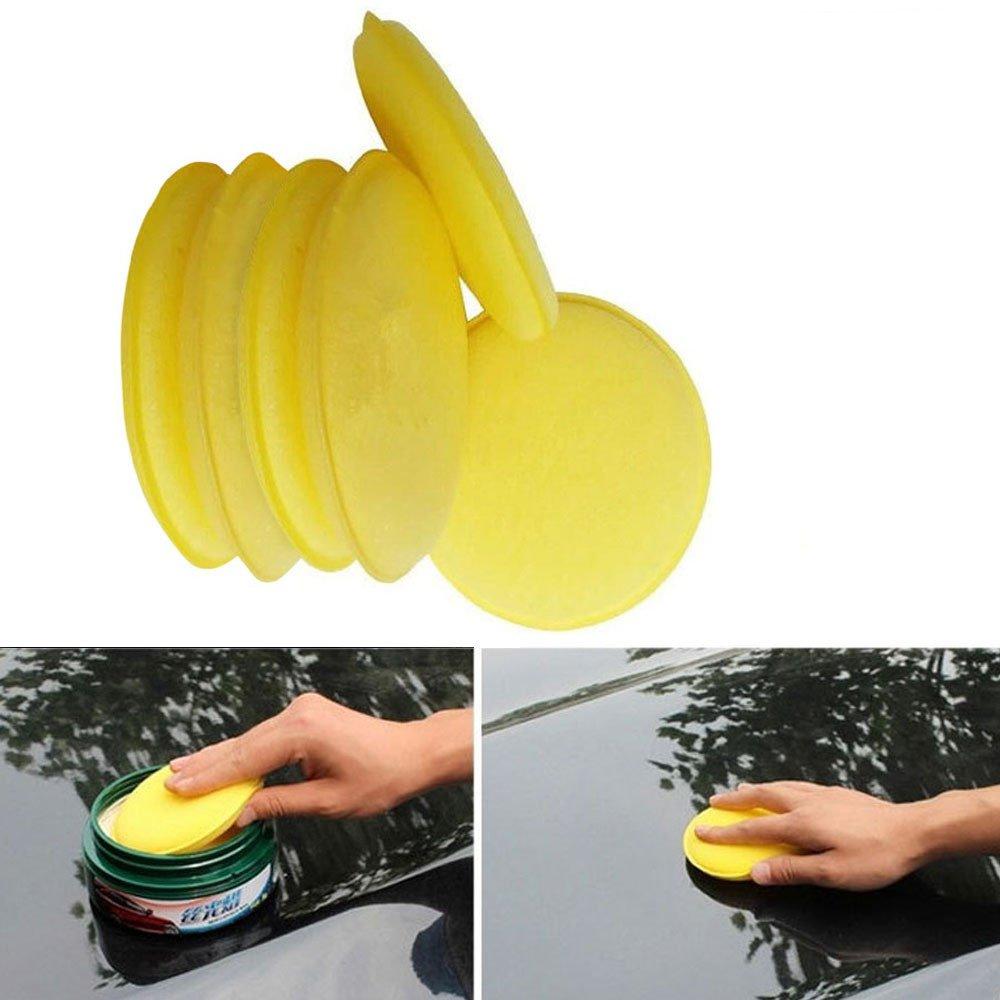 Polisher Buffer Sponge, FTXJ 6 pcs 10cm Cone Foam Buffing Polishing Waxing for Car Auto Wheel Hub Cleaning Pads