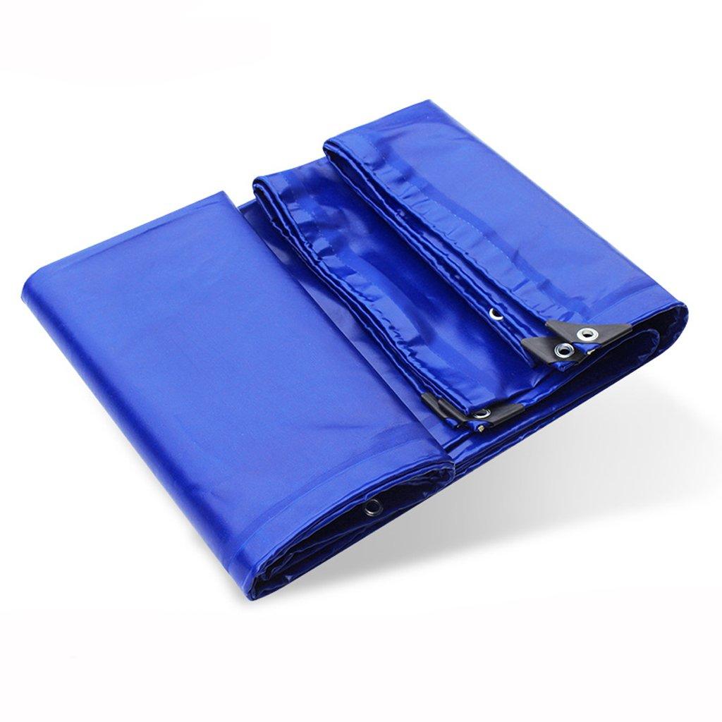 厚手の防水布ターポリン雨天のPVCコーティング布カーシート革ゴムキャンバス (色 : Blue, サイズ さいず : 4 * 6m) B07FLVLLSP 4*6m|Blue Blue 4*6m