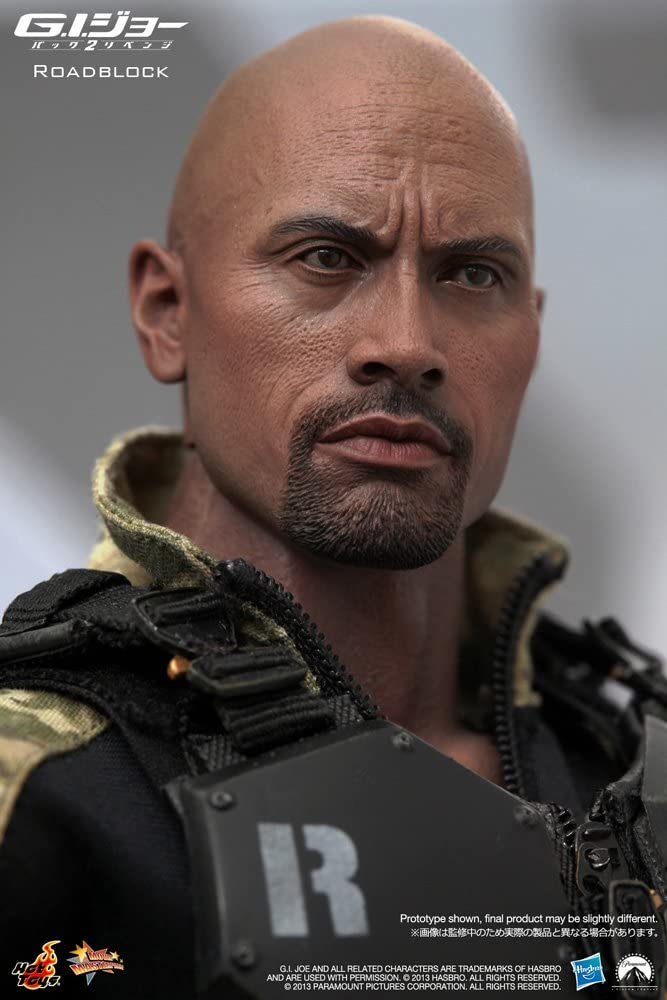 "1//6 Scale Gi Joe Roadblock Dwayne Johnson The Rock Head Fit 12/"" Hot Toys Figure"