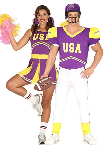 Amazon Com Couples Ladies And Mens Usa Cheerleader