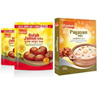 Eastern Sweet Mixes Combo Gulab Jamun-Mix 180g x2 and Payasam-Mix 200g - Pack of 3