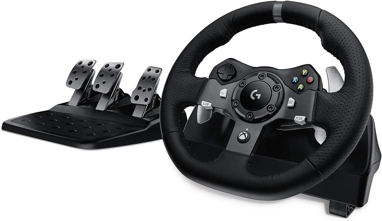 Logitech G920 Driving Force Volant de Course avec Pédales