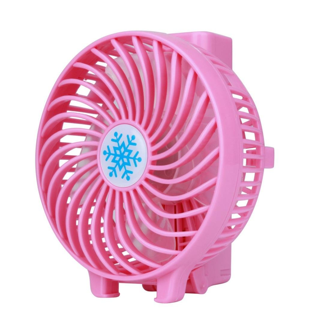 Portatile ricaricabile aria Cooler Mini gestito a mano USB 18650 batteria beautyjourney ventola mini ventilatore usb soffitto Rosa Ventilatore usb portatile Batteria