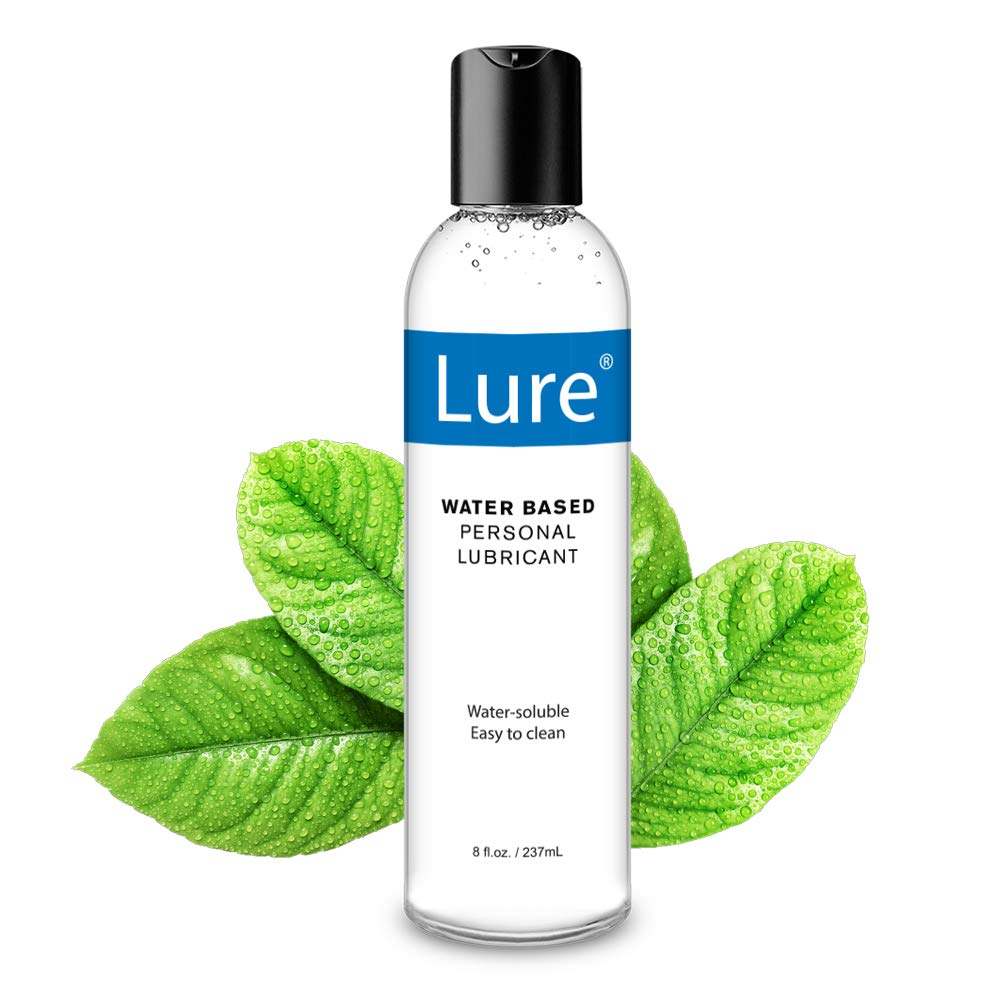 Lure Natural Water-Based Lube, 8 oz Personal Lubricants. Ultimate Super Slick-Slippery-Long Lasting- Sensitive Skin Safe for Women,Men or Couple