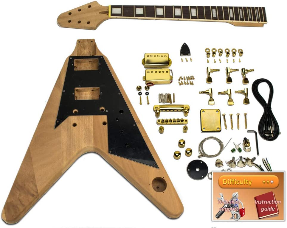 Kit de guitarra eléctrica – Gibson Flying V, Mahogany: Amazon.es ...