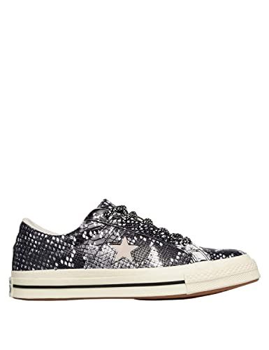 dc10300b9537 Converse Women s One Star Reptile Leather Sneakers Black in Size US 4 Men   6  Women
