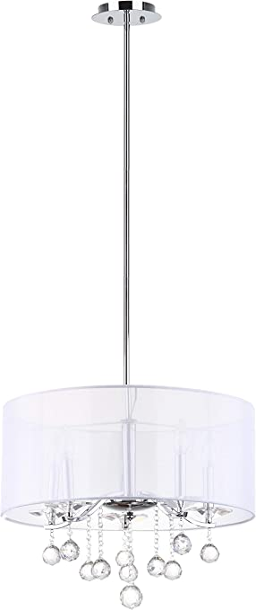 Safavieh Lighting Collection Etude Chrome 57-inch Pendant Light