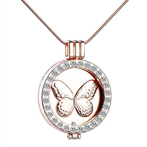 Unendlich U Schmetterling Elefant Damen Halskette Legierung Kristall