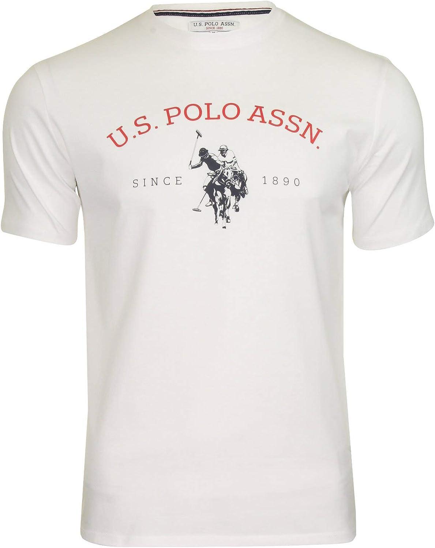 U.S Polo Assn. Camiseta para Hombre con diseño de USPA Blanco ...