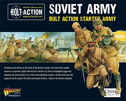 Bolt Action Soviet Army Starter Army Pack 1:56 WWII Military Wargaming Plastic Model Kit