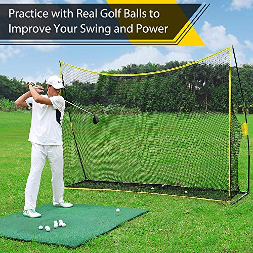 PodiuMax 10x7ft Golf Hitting Net | Driving Range for Backyard & Indoor | Also Suitable for Soccer, Baseball, Softball Practice