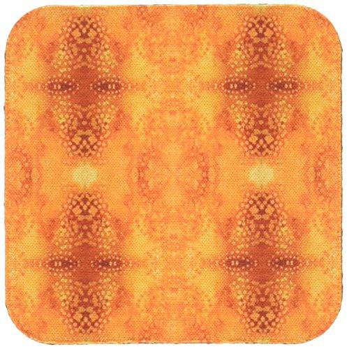 3dRose cst_35051_1 Burnt Orange Tye Dye-Soft Coasters, Set of (Burnt Orange Glass)