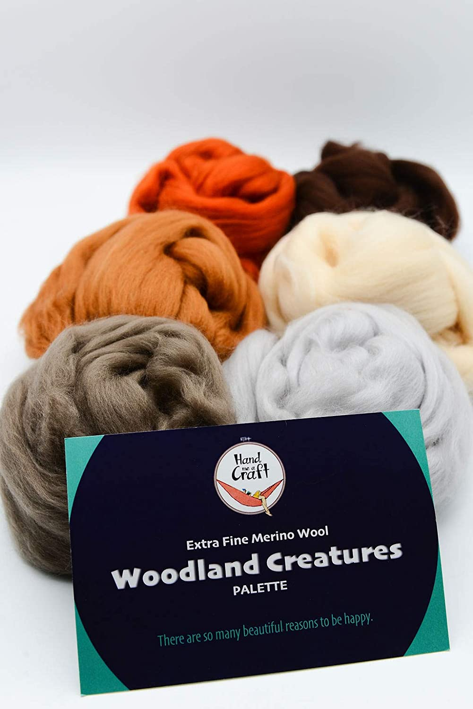 Felters Palette Merino Wool Roving 7 Vibrant Blue Lagoon Colors Superfine Wool Fibers Assortment