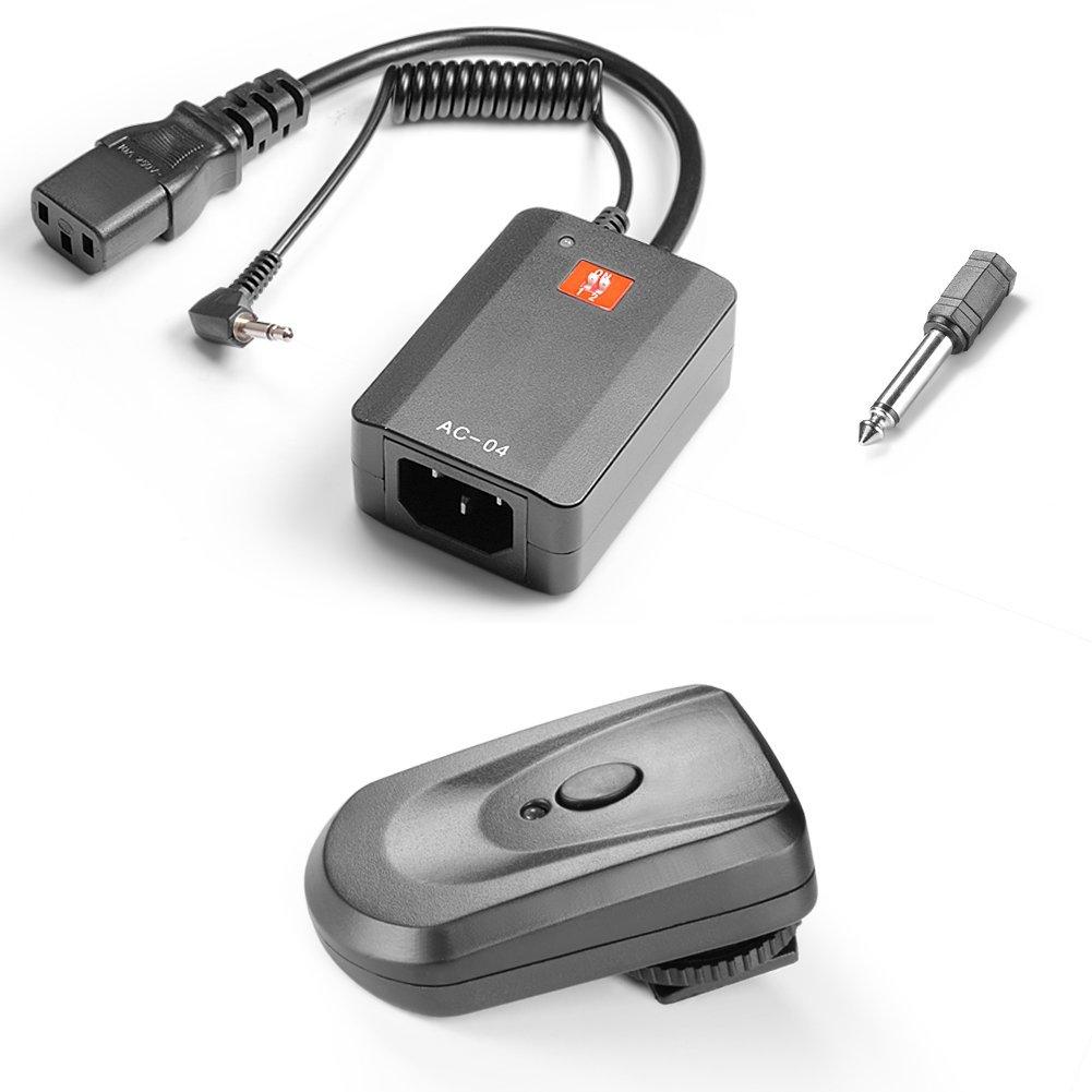 Neewer 4 Channel Wireless Studio Flash Trigger Set for Canon,Nikon,Pentax,Olympus DSLR Series,with Receiver for Neewer Godox CowboyStudio StudioPRO Strobe Monolight and External Speedlite(AC-04)